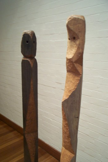 Adam and Eve, hardwood (detail). Photograph from a solo exhibition entitled The Movement of the Body in a Stationary Object, Ivan Dougherty Gallery, Sydney, Australia 2002.