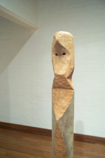 Eve, hardwood (detail). Photograph from a solo exhibition entitled The Movement of the Body in a Stationary Object, Ivan Dougherty Gallery, Sydney, Australia 2002.