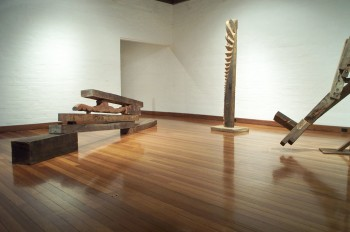 Photograph from a solo exhibition entitled The Movement of the Body in a Stationary Object, Ivan Dougherty Gallery, Sydney, Australia 2002.
